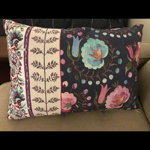 Anthropologie reversible pillow